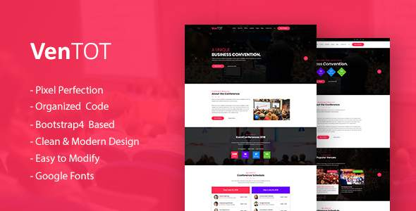 VenToT - Conference Ticket, Seminar & Event HTML Template            TFx Simon Johnathan