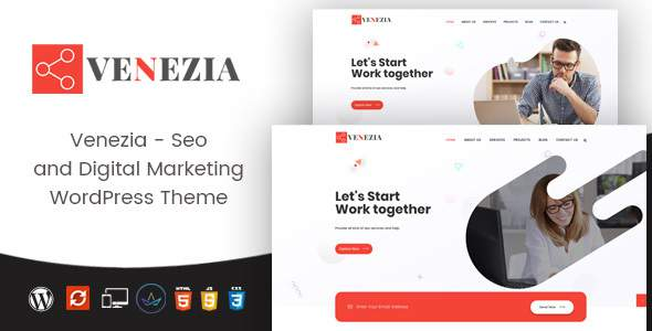 Venezia - Digital Marketing WordPress Theme            TFx Kent Nicky