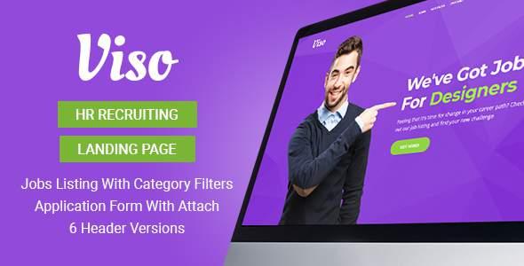 Viso – HR Recruiting Landing Page Template            TFx Dashiell Devan