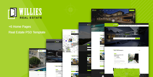 Willies - Real Estates PSD Template            TFx Jerald Gore