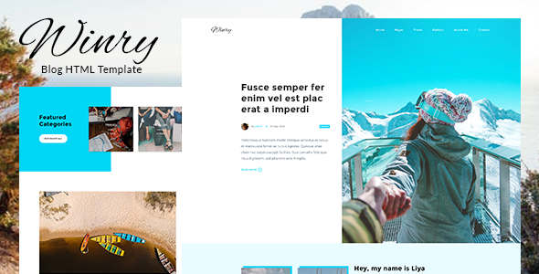 Winry – Creative Responsive Blog HTML Template            TFx Drummond Braden