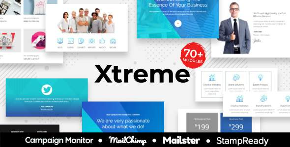 Xtreme -  Multipurpose Responsive Agency Email Template - StampReady + Mailster + Mailchimp            TFx Naomi Garrick