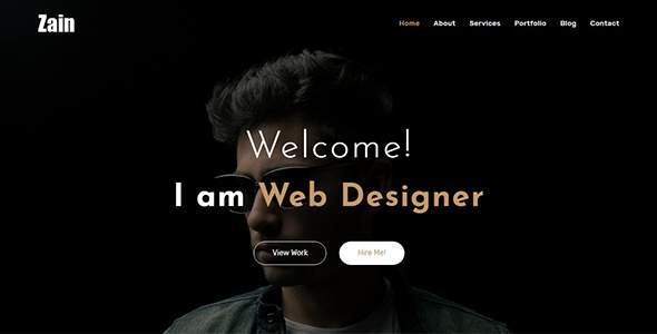 Zain – One Page Portfolio            TFx Jarrod Wilfrid