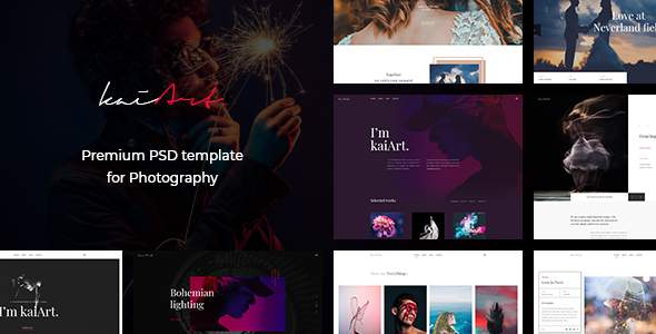 kaiArt - Premium PSD Template for Photography            TFx Terry Rudy