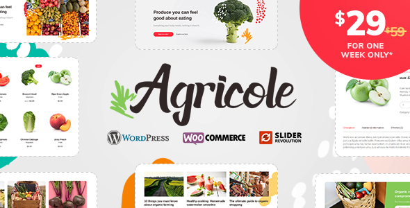 Agricole - Organic Food & Agriculture WordPress Theme            TFx Marcus Timothy