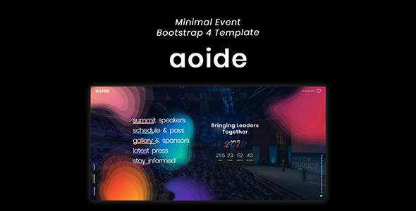 Aoide - Event Bootstrap 4 Template            TFx Kevin Daichi