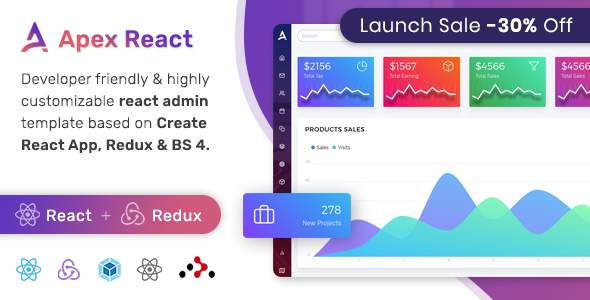 Apex – React Redux Bootstrap Admin Dashboard Template            TFx Hakob Hector