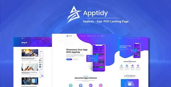 Apptidy - App Landing Page      TFx Timur Darrin