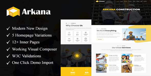 Arkana – One Page Construction WordPress Theme            TFx Hachirou Hale