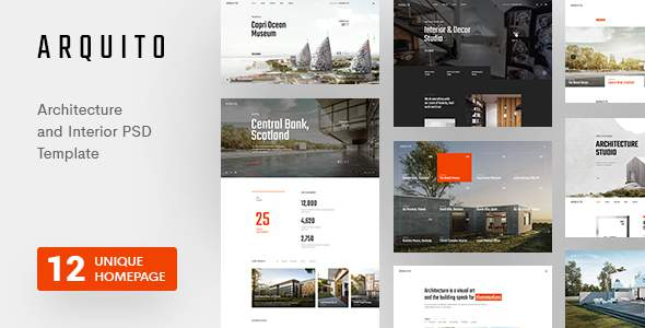 Arquito - Architecture & Interior PSD Template      TFx Amir Davy