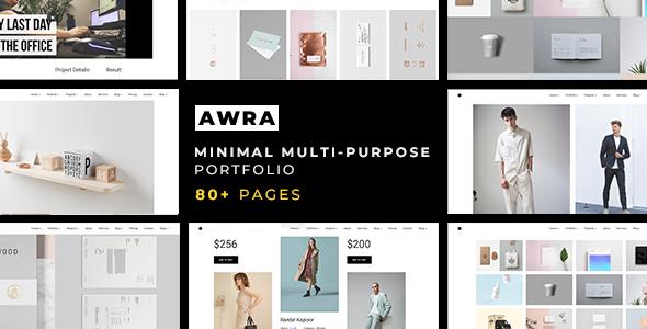Awra — Minimal Multi-Purpose Portfolio Template            TFx Cletus Anson