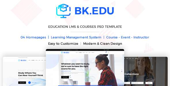 BKEDU - Education LMS & Courses PSD Template      TFx Akitham Charley