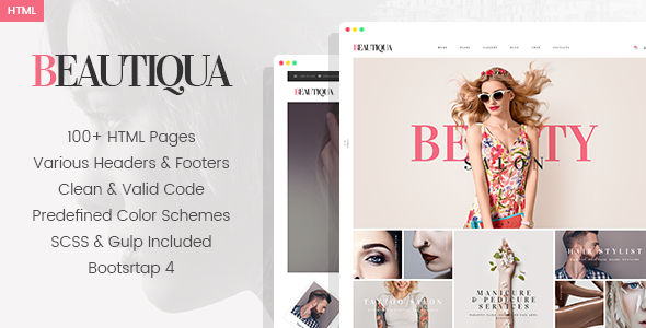 Beautiqua - Beauty Salon HTML Template      TFx Jeffrey Erik