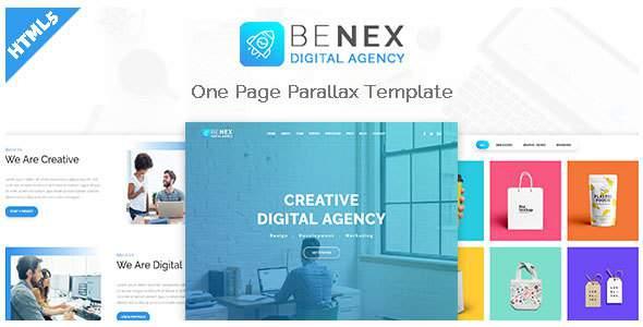 Benex - One Page Parallax Template            TFx Kuwat Cedar