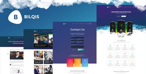 Bilqis - The Hosting PSD Template      TFx Davy Pace