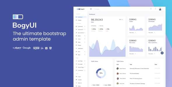 BogyUI Bootstrap Admin Dashboard Template            TFx Morris Yuki