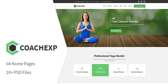 Coachexp - Coach Yoga and Mentor PSD Template            TFx Buster Tracy