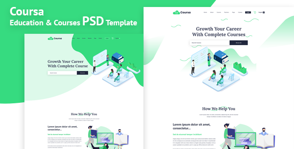 Coursa - Educational PSD Template      TFx Avetis Muhammad