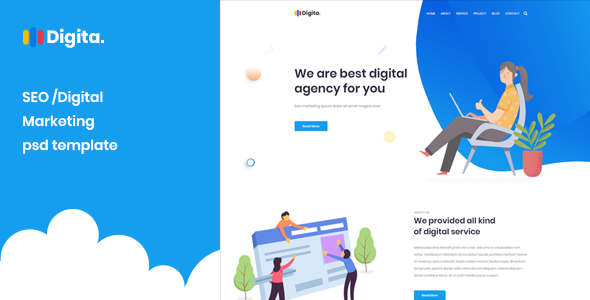 Digita - Creative Multipurpose Agency PSD Template            TFx Benson Stewart