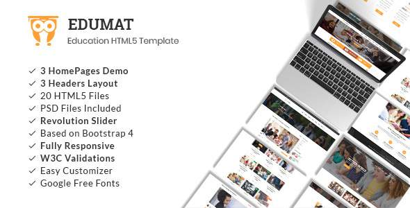 Edumat | Education & Courses HTML5 Template            TFx Davit Brenden