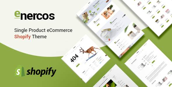 Enercos – Single Product eCommerce Shopify Theme            TFx Jez Nolan