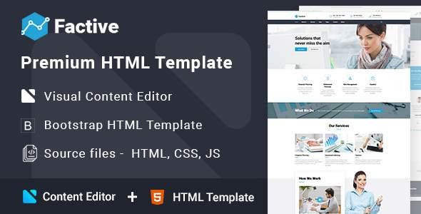 Factive - Financial Advisor Multipage HTML5 Template            TFx Nigellus Shou
