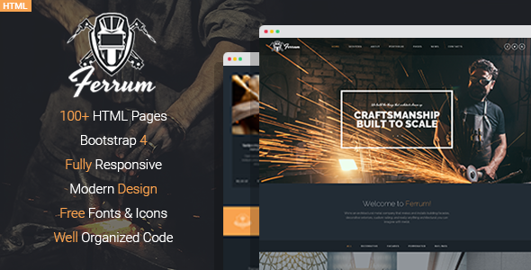 Ferrum - Welding And Metal Works HTML Template            TFx Leslie Tolly