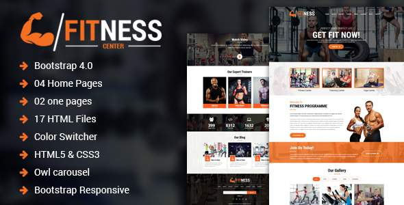 Fitness Center – Gym, Yoga & Personal Trainer HTML Template            TFx Tyler Wolfe