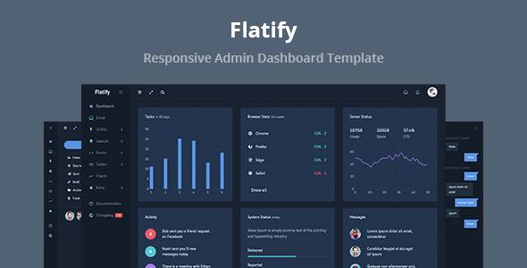 Flatify - Responsive Admin Dashboard Template            TFx Ptolemy Ryuunosuke