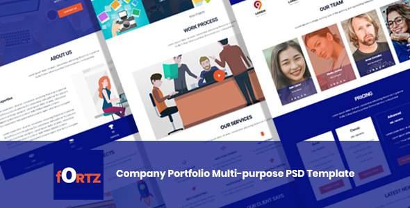 Fortz – Company Portfolio Multi-purpose PSD Template            TFx Tye Jude