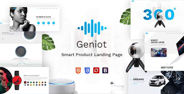 Geniot – Smart Devices Product Landing Page            TFx Godfrey Raphael