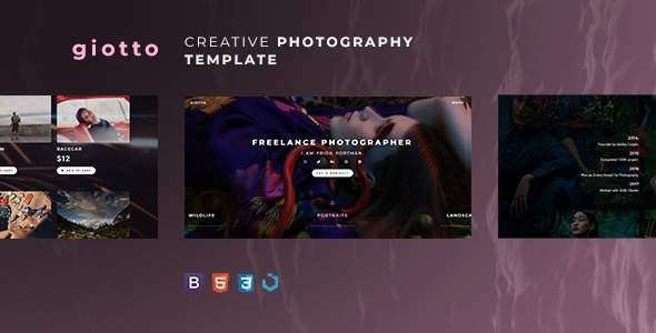 Giotto — Creative Photography Template            TFx Shanon Hervey