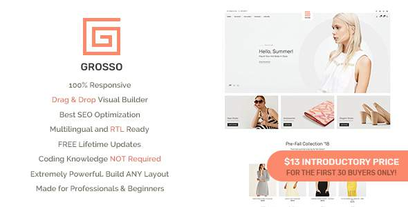 Grosso - Modern WooCommerce theme for the Fashion Industry            TFx Averill Bernard