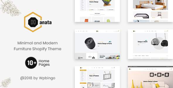 Hanata – Minimal and Modern Furniture Shopify Theme            TFx Octavian Lake