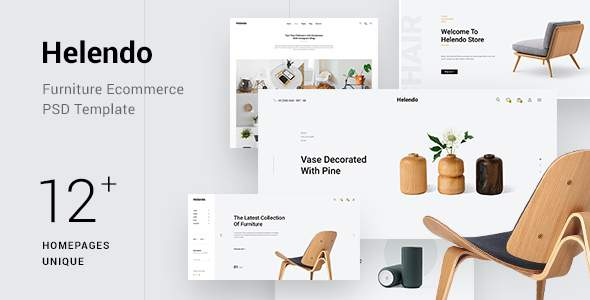 Helendo - Minimalist Furniture eCommerce PSD Template            TFx Kerr Lovell