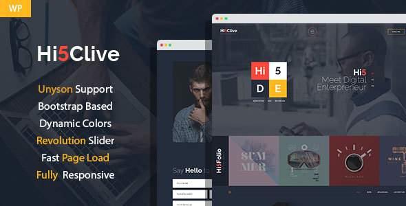 Hi5Clive - Digital Entrepreneur WordPress Theme            TFx Rupert Alpha