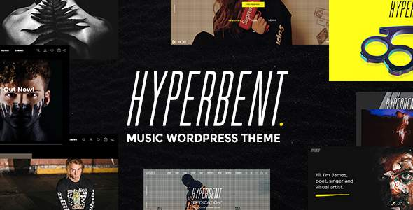 Hyperbent – A Modern Music WordPress Theme            TFx Tim Pompey