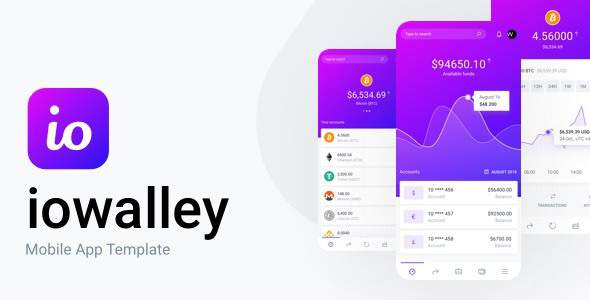 IOWalley - Mobile UI kit for Banking Apps & Crypto Wallets            TFx Tate Arata