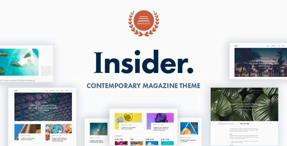 Insider – Contemporary Magazine and Blogging Theme            TFx Warrick Douglas