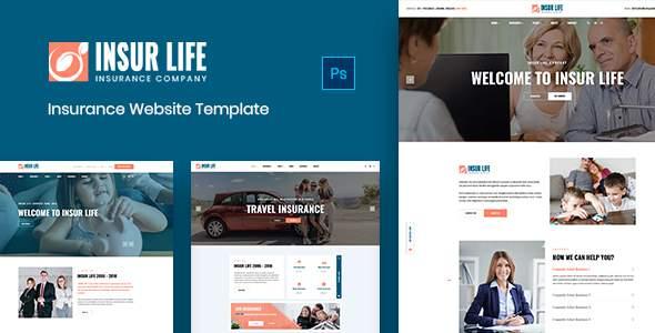 Insurlife - Insurance Agency PSD Template      TFx Derryl Xquenda