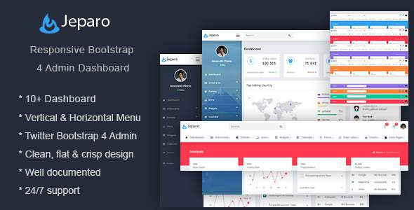 Jeparo - Responsive Bootstrap 4 Admin Dashboard Template      TFx Danny Roscoe