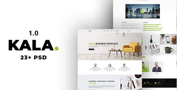 Kala | Minimal Multipurpose PSD Template            TFx Brand Karen