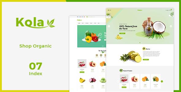 Kola - Fresh eCommerce PSD Template            TFx Cahyo Yolotl