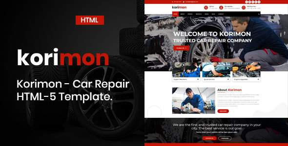 Korimon - Car Repair Responsive HTML-5 Template      TFx Bart Hamilcar