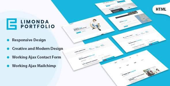 Limonda  - Personal Portfolio HTML Template            TFx Bobby Reid