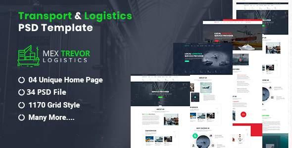 Mex Trevor - Logistic & Transport PSD Template      TFx Souta Blake