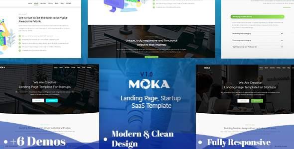 Moka - Landing Page, Startup HTML Template      TFx Reagan Morley