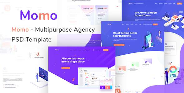 Momo - Multipurpose Agency PSD Template            TFx Ward Ian