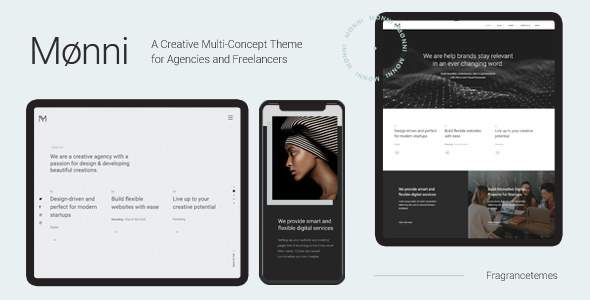 Monni – A Creative Multi-Concept Theme for Agencies and Freelancers            TFx Darion Mahpiya