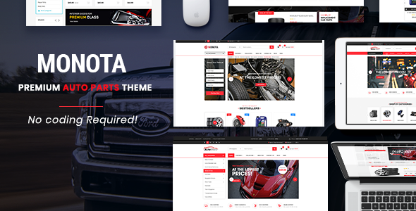 Monota – Auto Parts, Tools, Equipments and Accessories Store Opencart Theme            TFx Drummond Royle
